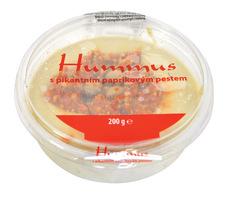 Humus cícerová pomazánka s paprikovým pestom 200g