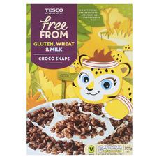 Tesco Free From Rýžové lupínky s polevou s čokoládovou příchutí 300 g