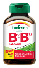 Jamieson Vitamíny B6, B12 a kyselina listová