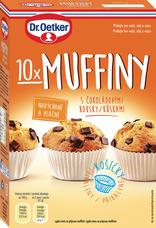 Muffiny s čokoládovými kousky 260 g