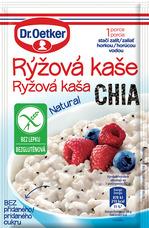 Rýžová kaše Chia, Natural bez lepku 52 g