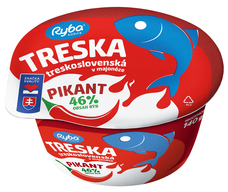 Treskoslovenská Treska v majonéze Pikant 140 g