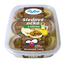 Sleďové očká s olivou 150 g