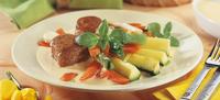 Zeleninový talíř se smetanovou omáčkou