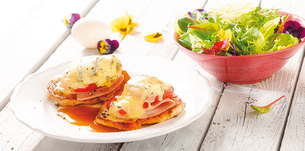 Pečené telecí kotlety s gorgonzolou a salátem