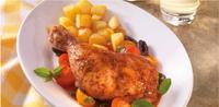 Pečené kuře s rajčaty, kapary a olivami