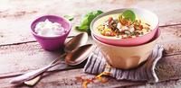 Zeleninová polévka s čočkou a slaninou