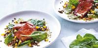 Čočkový salát s paprikou a hovězím masem