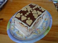 Dvoubarevný dort bez lepku