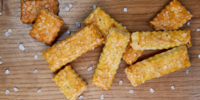 Slané sýrové sušenky bez lepku