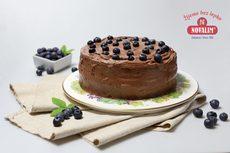 Čokoládová torta bez lepku s čučoriedkami