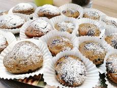 Pohánkové muffiny s čučoriedkami